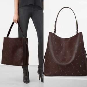 All Saint Junai North South Leather Tote